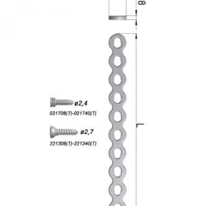 Płytka blokowana, kompresyjna rekonstrukcyjna prosta 8,0 x 1,8mm