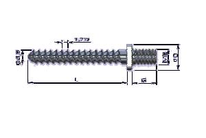 Wkręt do kości korowej ZESPOL standard Ø4,5mm z nakretką