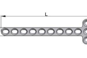 Płytka T – 7,0 x 1,5mm pod wkręty Ø 2,7mm
