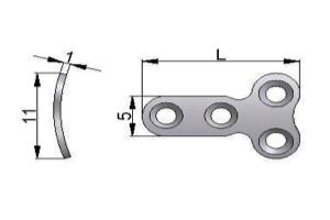 Płytka T – mini pod wkręty Ø 1,5mm