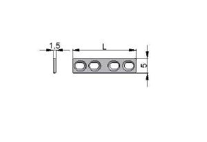 Płytka drobna samodociskowa 5,0 x 1,5mm dla wkrętów Ø2,0mm
