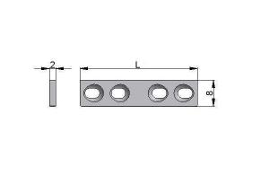 Płytka drobna 8,0 x 2,0mm samodociskowa pod wkręty Ø2,7mm