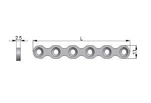 Płytka rekonstrukcyjna cienka pod wkręty Ø3,5mm i Ø4,0mm