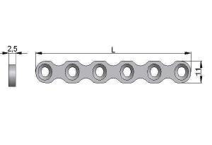 Płytka rekonstrukcyjna cienka pod wkręty Ø4,5mm