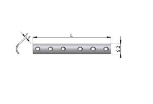Płytka rynnowa 1/3 z otworami pod wkręty Ø 2,7mm