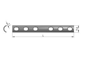 Płytka rynnowa 1/2 pod wkręty Ø 4,5mm