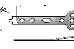 Płytka T pod wkręty Ø3,5mm i Ø4,0mm