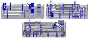 Palety sterylizacyjne do zestawu narzędzi (bez narzędzi)
