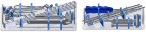 Palety sterylizacyjne do zestawu narzędzi gwozdzie wterynaryjne (bez narzędzi)