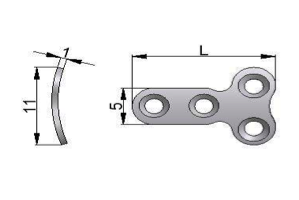 Płytka T – mini pod wkręty Ø 2,0mm