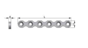 Płytka rekonstrukcyjna pod wkręty Ø4,5mm