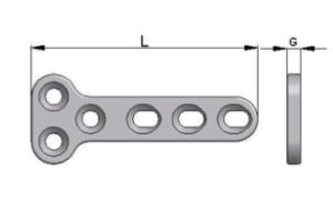 Płytka T pod wkręty Ø2,7mm, Ø3,5 mm i Ø4,5 mm